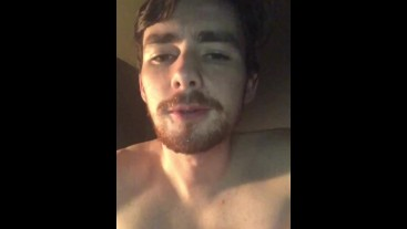 Guy Cums in His Own Mouth