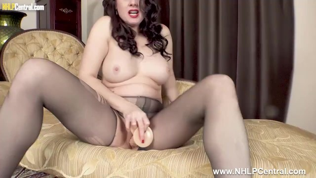 Karina curry naked Big tits milf karina currie fucks big cock toy in slinky nylon pantyhose