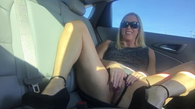 Sexy zip back dress Blond milf back seat masturbation
