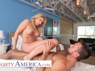 Naughty America – Sophia Deluxe Needs cock on the massage table