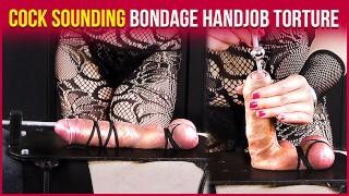 Cock Sounding Bondage with Teasing and Edging Handjob Torture | Era