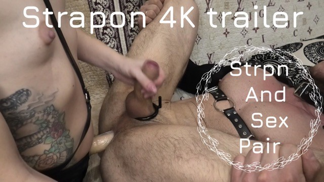 Strapon sluts fuck men Strapon trailer 4k. rimming. cage of chastity.