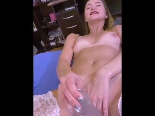 Teen in white stockings gets assfucked