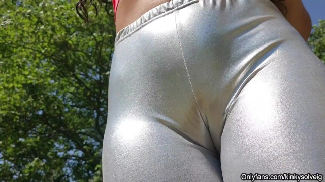 Nude camal toe pictures Guess my pussy in my shiny leggings - sexy camel toe - trailer
