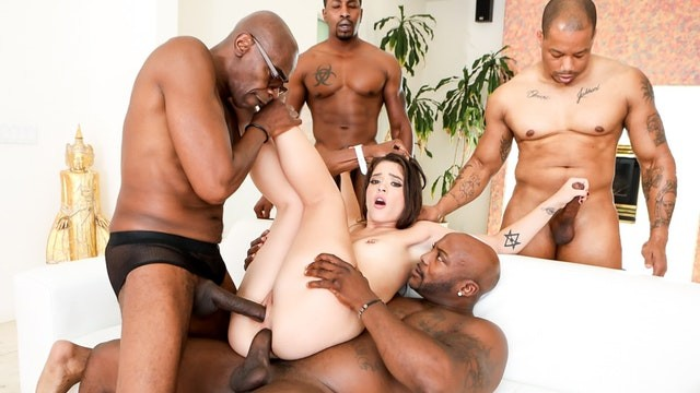 Big black dicks sean michaels Devilsgangbangs 4 big dicks to destroy this hot brunette