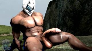 Gorące porno - Mały Facet Animacja Wzrostu Mięśni