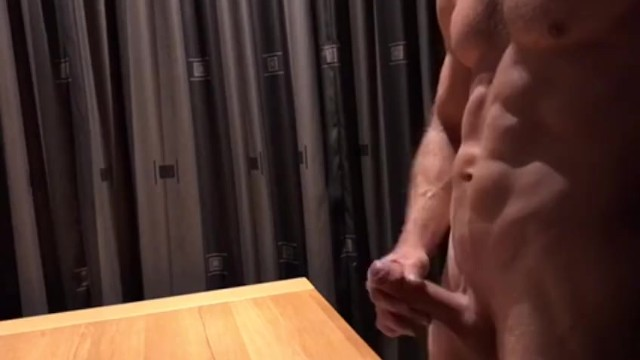 Gay muscled jacking 22 year old boy jacks off and shoots a massive load of cum