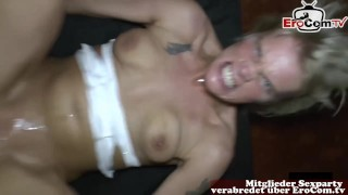 German housewife creampie gangbang party