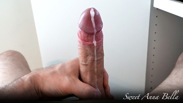 At work quick jerk off with a nice cumshot, big cumload and ruined orgasm