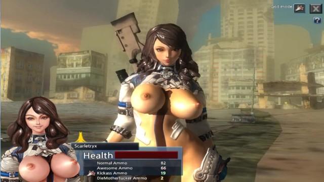 Big tit sex games Scarletryx sexy anime girl, warrior sex game