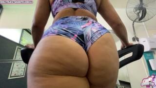 Huge Ass Fitness Babe Works Out Fucks & Sucks Deepthroat Cum Throat Sex POV