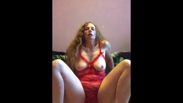 Cupless and crotchless lingerie Riding dildo in open cup crotchless lingerie