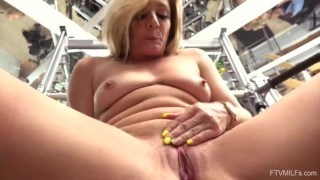 Horny MILF Tucker Stevens Working Out & Fingering Both Holes
