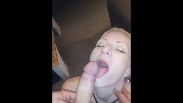 Hot wife gives the best deep throat blowjob ever