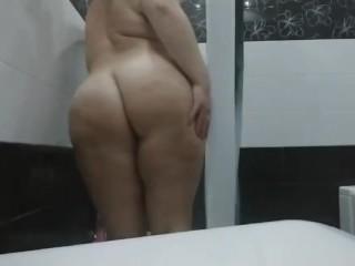 Spy mom in shower masturbation. Bbw hot body