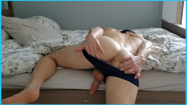 Fuck me over the side of the bed in my speedo
