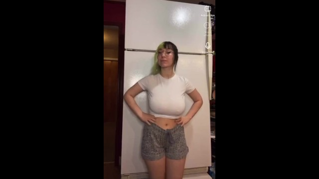 Girls tits grow Bigtittygothegg fridge video nsfw