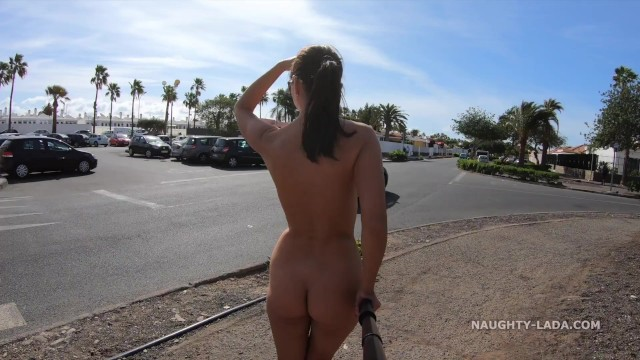 Women walking naked in public He left me alone naked in public