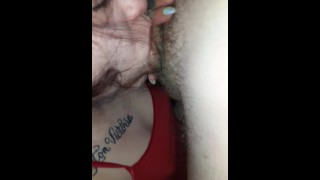 Slobbering all over my dick. Go follow tinyjade for more content.