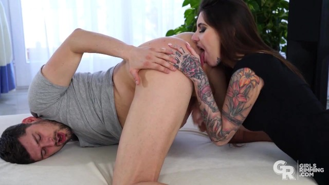 Bbw pussy licking ann Girlsrimming - hot kinky rimming with brunette inked beauty ann rii