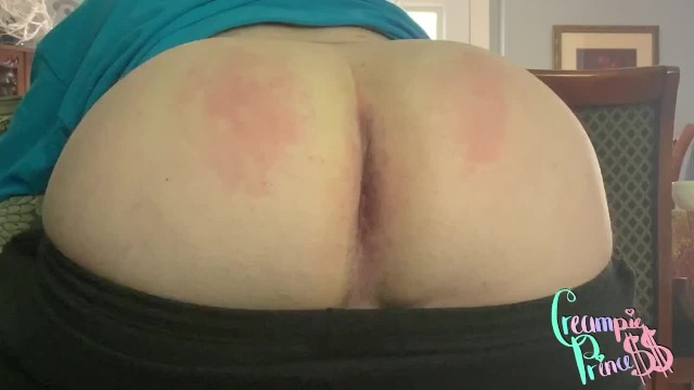 Gay leather spanking Big booty sissy boy home alone, gets spanked hard