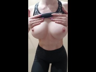 Locker Room Boob Massage Gym/ Nicest Teen Boobs Ever – HD 1080p