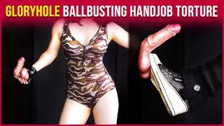 GloryHole Ballbusting – Military Cock & Balls Handjob Torture | Era