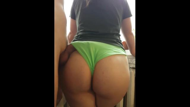 Cum panties videos Hot girl by the window, cum on her panties