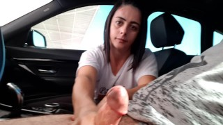 Julia car handjob 2