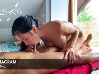 Best blowjob from Sasha Rose! Indescribable feelings! Educational manual!