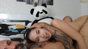Live Blowjob On Chaturbate! Daddy Cums In My Mouth & I Swallow Every Drop! - Real Couple Live Cam BJ