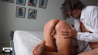 Asian MILF spanked and fingered in her pussy and ass