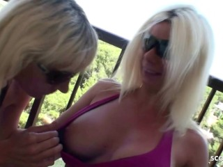German Mature Mom Lesbians Lick and Play each other Pussy