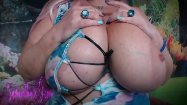 Samantha 38g big titty tease 2 from 2016
