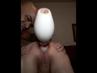Slave bunny ass bowling pin