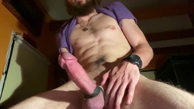 Straight Boy With a Butt Plug And Cock Strap!!