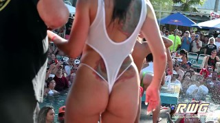 Nasty Twerk Pool Party Sluts out of Control