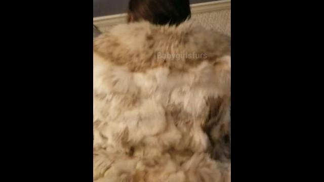 Trench coat nude Babygirl getting fucked in her fox coat