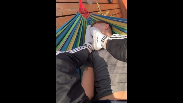 Free gay cbt movies Feet cbt outdoor fot the faggot in chastity