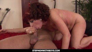 StepmomWithBoys - Redhead Stepmom Fucking Her Stepson's Young Cock
