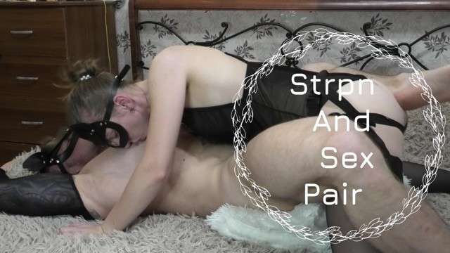 Strap on men anal sex Passionate and deep fucked him with a strap on