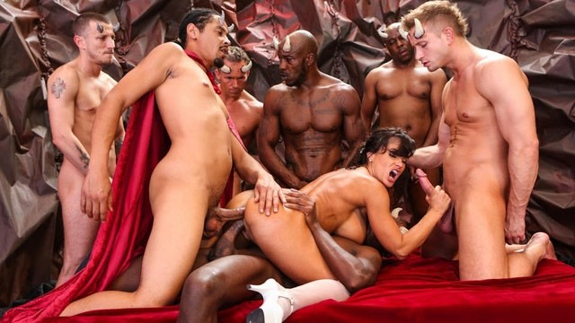 DevilsGangbangs Lisa Ann Gets Destroyed By Demons With Big Dicks