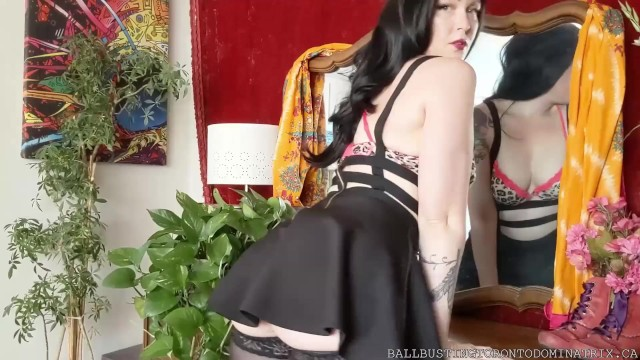 Ass foot pussy Bastienne cross humiliates panty sniffer with pussy, ass foot worship, light ballbusting joi prev