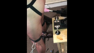 Leather lad - Fuck Machine and teasing.