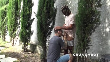 real straight fucked barebakc by top ebony in disctret place in harden outdoor