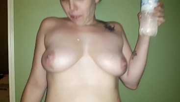 Hot wife loves getting wet