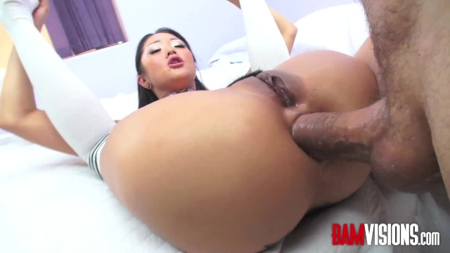 Bamvisions Asian Anal Slut Sara Song DP with toy