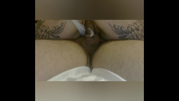 I Like sperm inside, Creampie, riding on cock