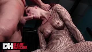 Deviant Hardcore – Gorgeous Babe Casey Calvert Face Fucked & Worships Evan's Cock