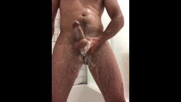 Shower for you with soapy hard cock